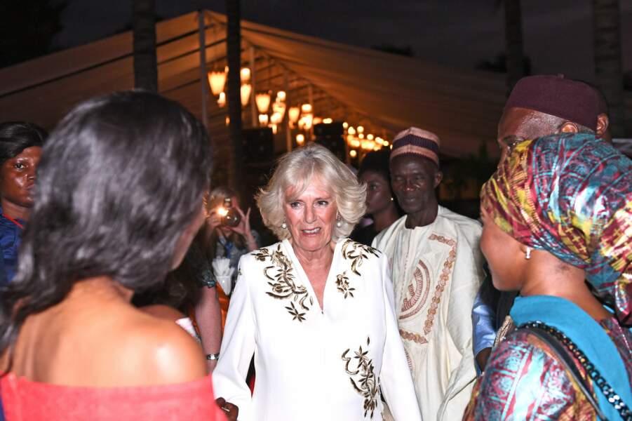 Camilla, au Coco Ocean Resort & Spa, à Bijilo, en Gambie, le 31 octobre 2018.
