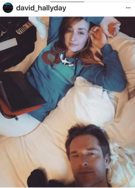 David Hallyday et sa fille Emma