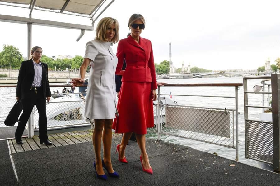 Melania Trump et Brigite Macron vont assumer leur rôle de Première dame pendant cinq ans