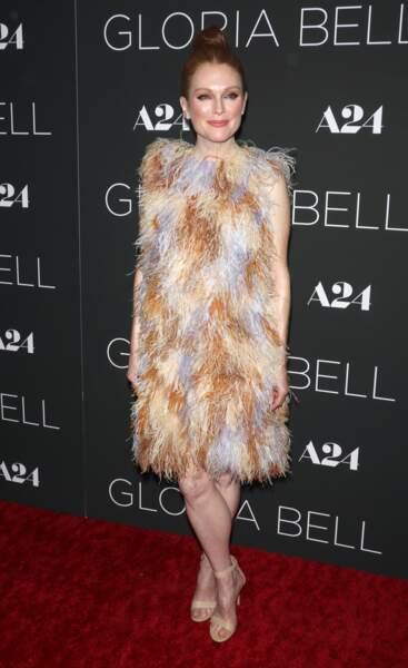 """Julianne Moore (58 ans), à la première du film """"Gloria Bell"""" à New York, le 4 mars 2019"""