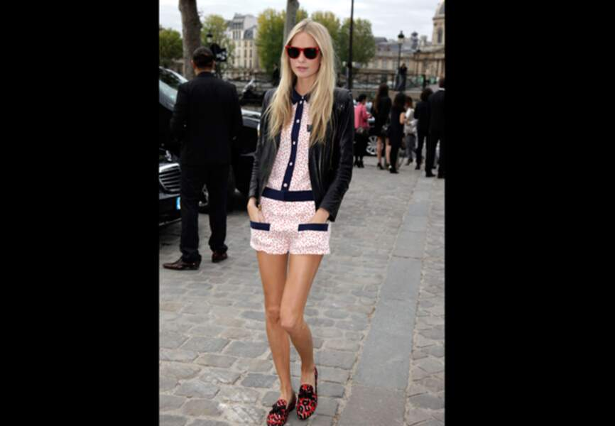 Poppy Delevingne, total-look griffé