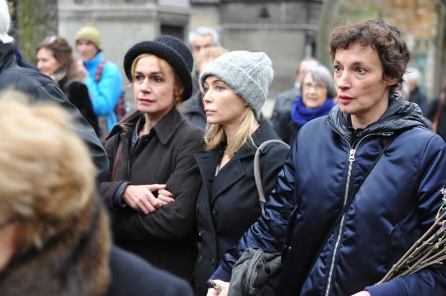 Sandrine Bonnaire, Emmanuelle Beart et Jeanne Balibar aux obsèques De Jacques Rivette - Paris