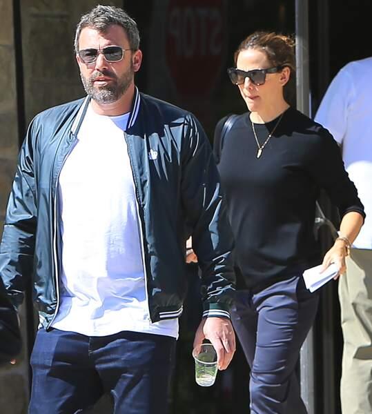 Ben Affleck et Jennifer Garner sortent de la messe avec leur fils Samuel à Santa Monica le 30 septembre 2018