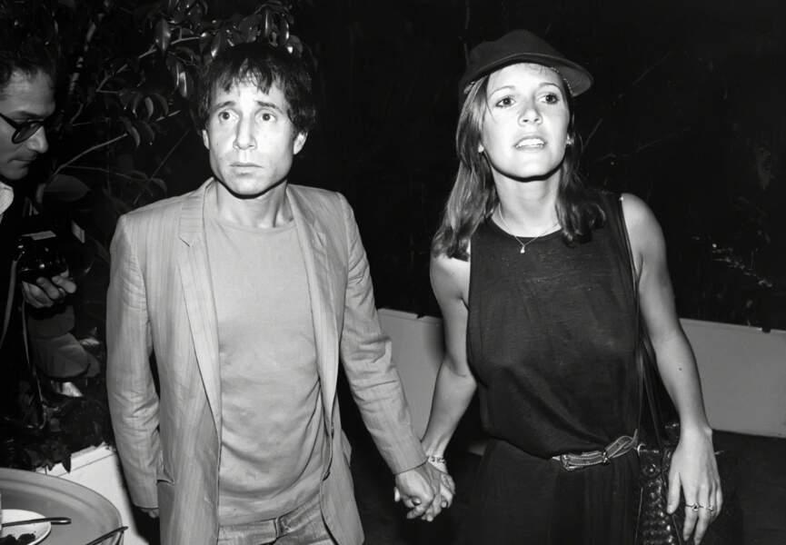 Carrie Fisher et Paul Simon en 1983
