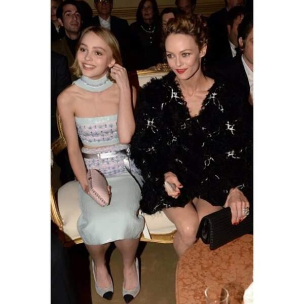 2015 : un véritable air de famille mais encore de ressemblance troublante entre Vanessa Paradis et Lily-Rose Depp