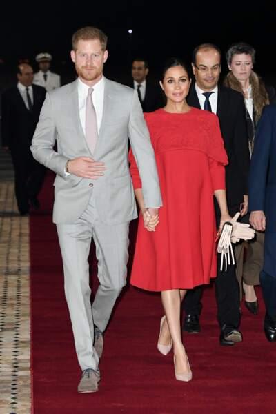 Harry et Meghan très chic à leur arrivée à Casablanca