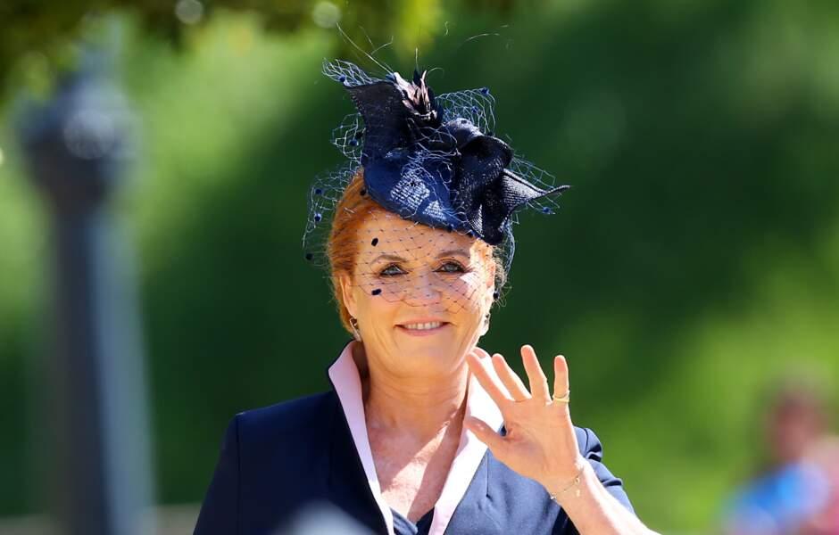 Bannie des noces du prince William, Sarah Ferguson, ex-épouse du prince Andrew, est réapparue à celles d'Harry.