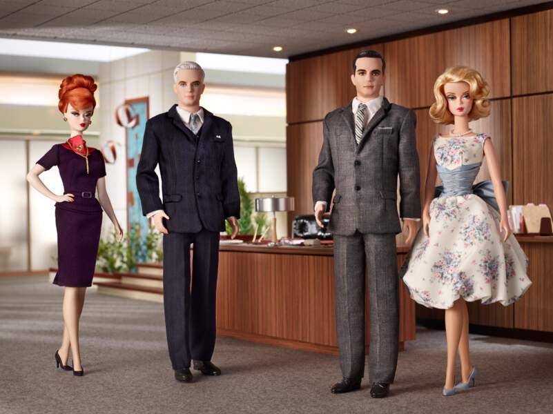 """Une version Barbie des personnages principaux de la série """"Mad Men"""" est commercialisée en 2010"""