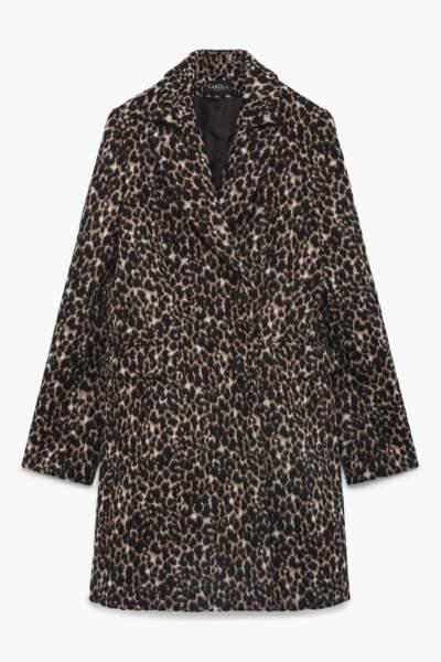 Must have, manteau Philippe à imprimé léopard, 260 € (Caroll).