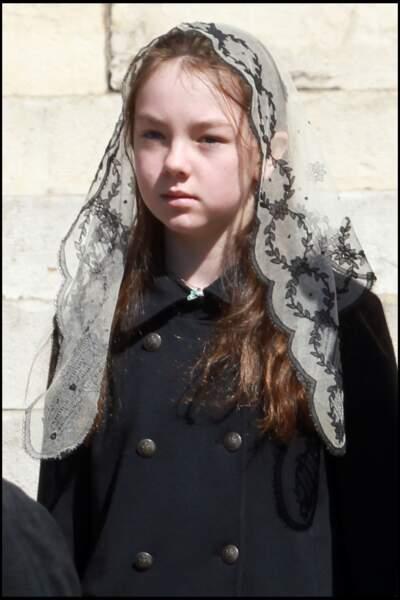 Alexandra de Hanovre assistant aux obsèques de la princesse Antoinette de Monaco le 24 mars 2011