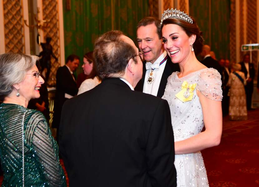 Kate Middleton sublime en robe Jenny Packham