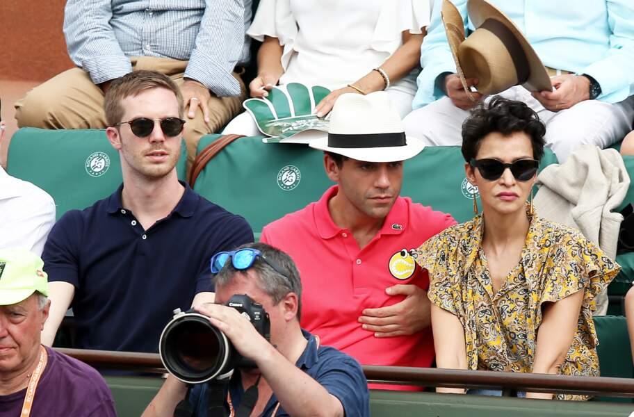 Le chanteur Mika et son compagnon Andy Dermanis à Roland Garros