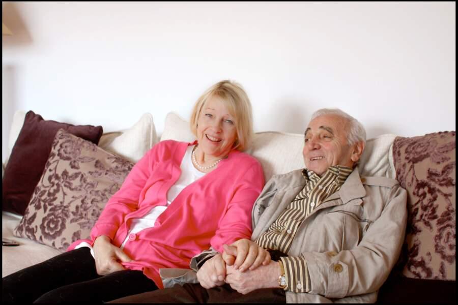 Charles Aznavour et sa femme Ulla en 2009