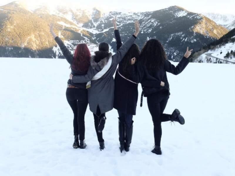 Quatre Miss France en vacances au ski