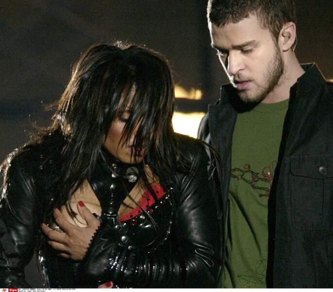 Janet Jackson et Justin Timberlake au super ball 2004
