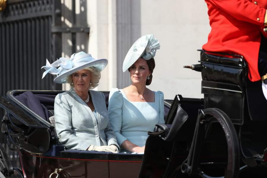 Kate Middleton et Camilla Parker Bowles pour au Trooping the Colour