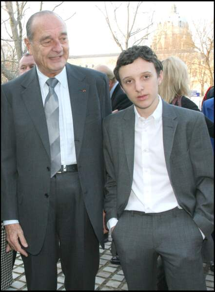 Jacques Chirac et son petit-fils Martin, à Paris en 2009