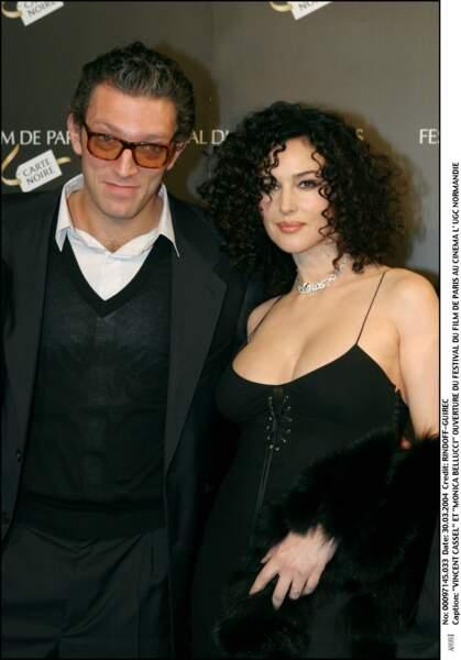 Monica Bellucci et Vincent Cassel à l'ouverture du festival du film de Paris en 2004
