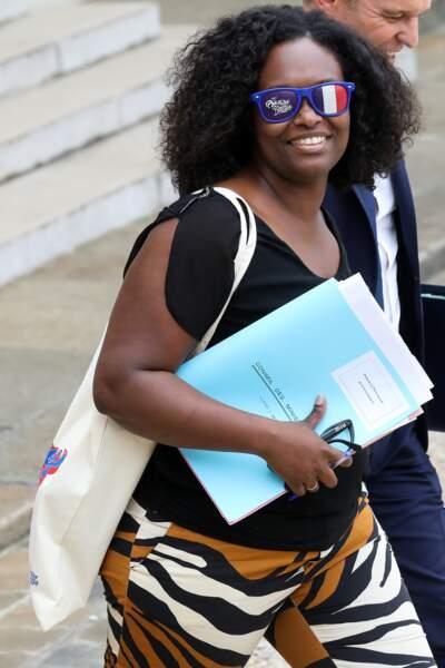 Sibeth Ndiaye était visiblement ravie de porter cet accessoire