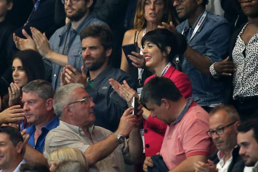 Nolwenn Leroy et Arnaud Clément complices et amoureux dans les tribunes