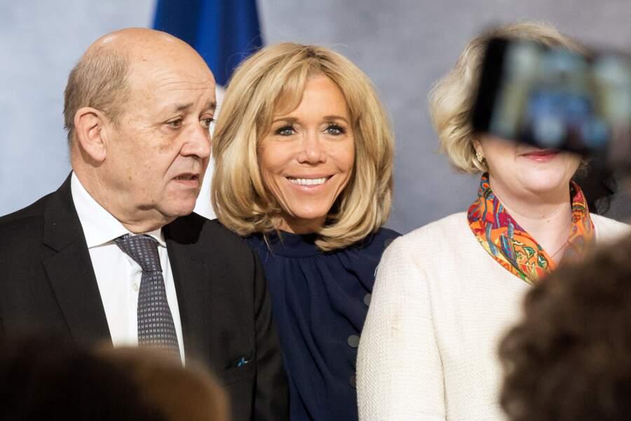 Brigitte Macron a porté cette robe Louis Vuitton pour la première fois le 8 mars 2019