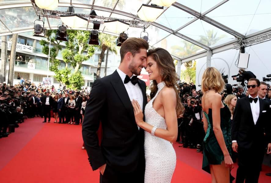 Kevin Trapp et Izabel Goulart sur le tapis rouge du Festival de Cannes en 2017