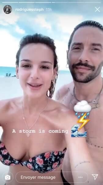 """""""Un orage arrive"""" prévient Stéphane Rodrigues, le mari de Jade Leboeuf"""