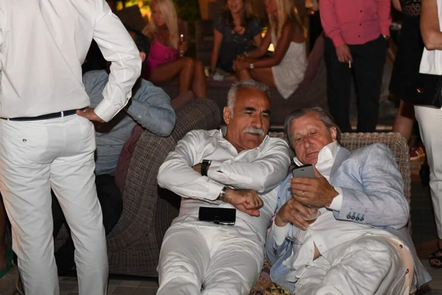 Mansour Bahrami et Ilie Nastase au Pan Deï