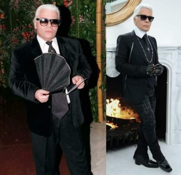 Karl Lagerfeld avant/après