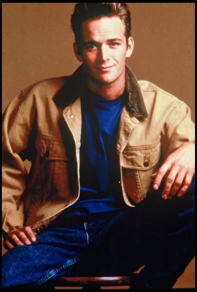 Portrait de Luke Perry, en 1990
