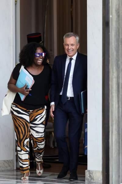 Sibeth Ndiaye a été aperçue avec François de Rugy à la sortie du conseil des ministres ce lundi 3 juin