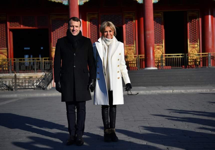 Le couple présidentiel visite la cité interdite, en Chine