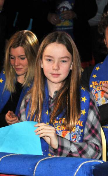 La princesse Alexandra de Hanovre assistant au festival International du cirque de Monte-Carlo le 22 janvier 2011