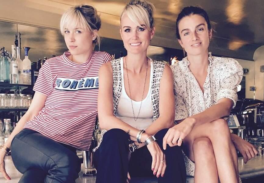 Anne-Sophie Mignaux, Laeticia Hallyday et Sonia Sieff