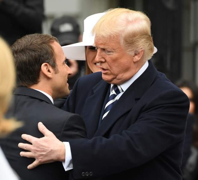 Donald Trump, reconnaissant envers Emmanuel Macron