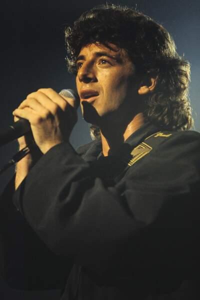 Patrick Bruel en concert au Zénith de Paris, en 1990