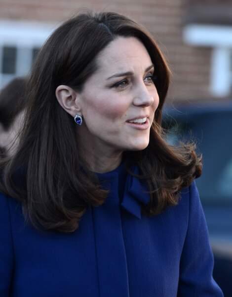 Kate Middleton à l'inauguration d'un nouveau centre de traitement communautaire à Wickford le 7 février 2018