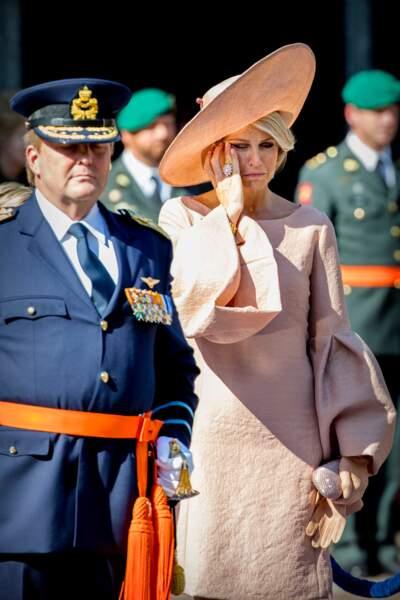 Maxima des Pays-Bas lors d'une cérémonie militaire à La Hague, le 31 août 2018