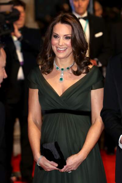 Kate Middleton à la 71ème cérémonie des British Academy Film Awards (BAFTA) au Royal Abert Hall à Londres