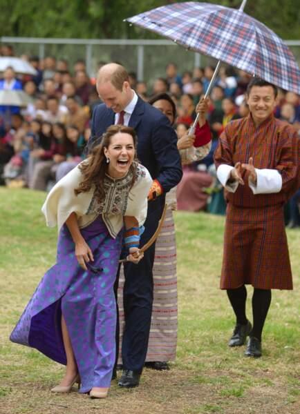 Princesse Kate hilare