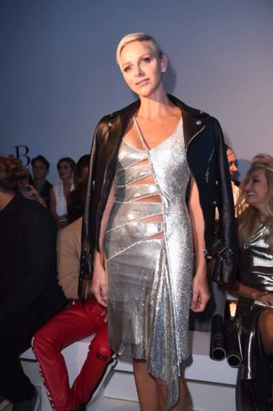 Charlène de Monaco incroyable au défilé Versace