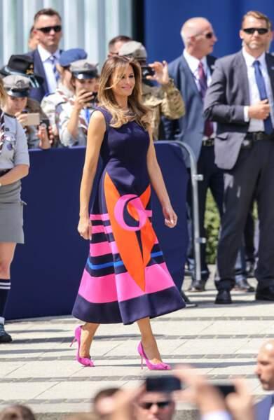 La First Lady était sublime dans une robe griffée Delpozo
