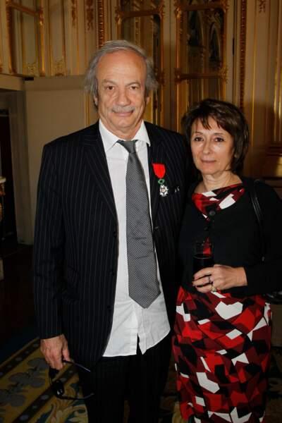 Josiane Stoléru assiste en mars 2012, au ministère de la Culture, à la remise de la Légion d'honneur à son mari