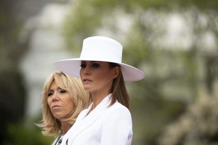 Melania Trump et Brigitte Macron
