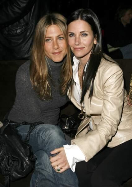 Jennifer Aniston et Courteney Cox à Los Angeles en 2007