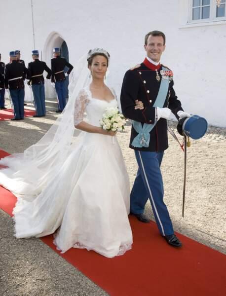 Le prince Joachim de Danemark et Marie Cavallier (Arasa Morelli) lors de leur mariage le 24 mai 2008