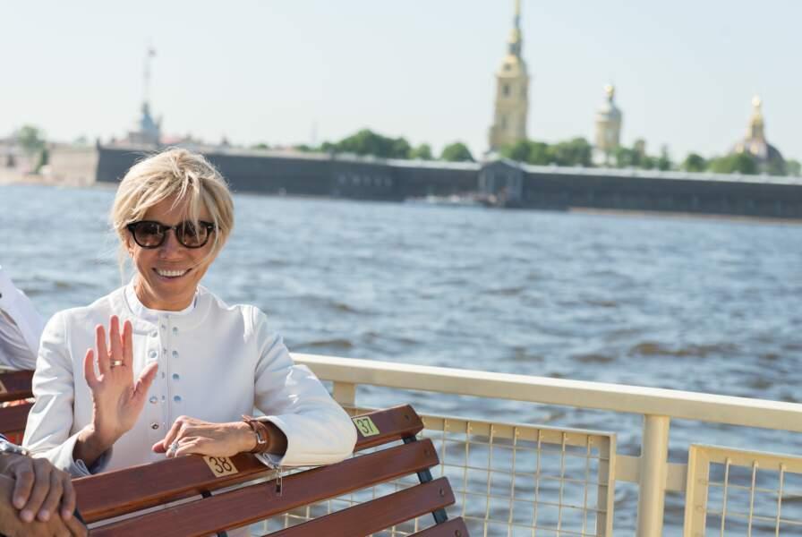 Brigitte Macron visite la ville de St Petersbourg, le 25 mai 2018