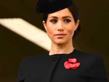 PHOTOS - Meghan Markle et Kate Middleton en noir et et le visage fermé : profonde émotion lors des commémorations du centenaire de l'armistice