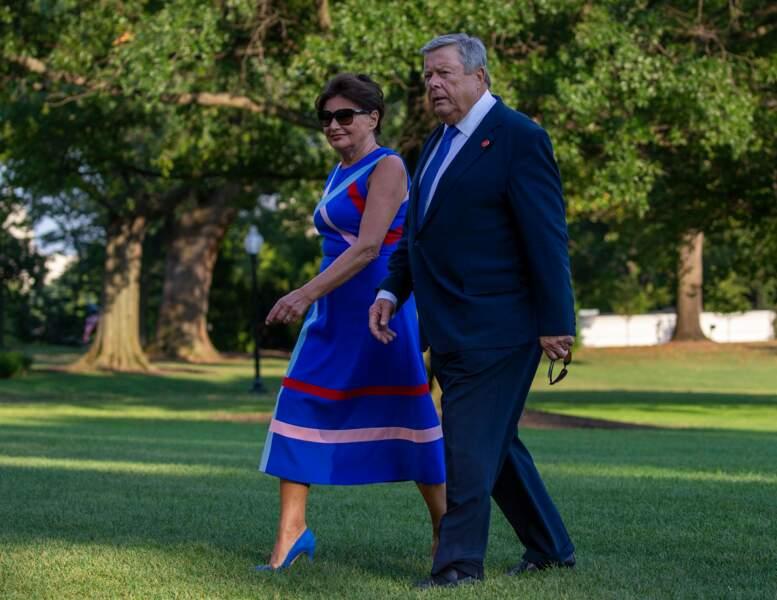 Les parents de Melania, Amalija et Viktor Knavs, sont sortis du même hélicoptère que le couple Trump