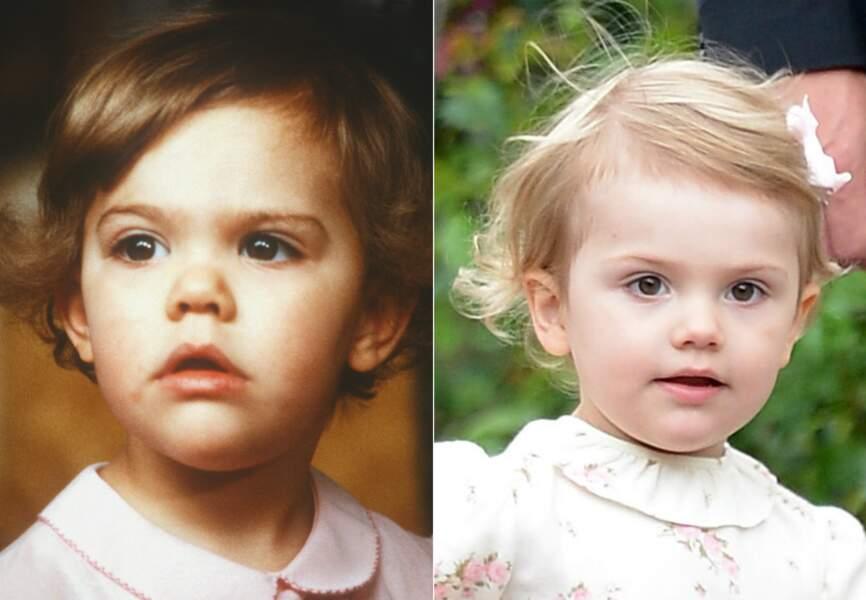 Difficile de distinguer Victoria de Suède (à gauche) de sa fille Estelle (à droite)